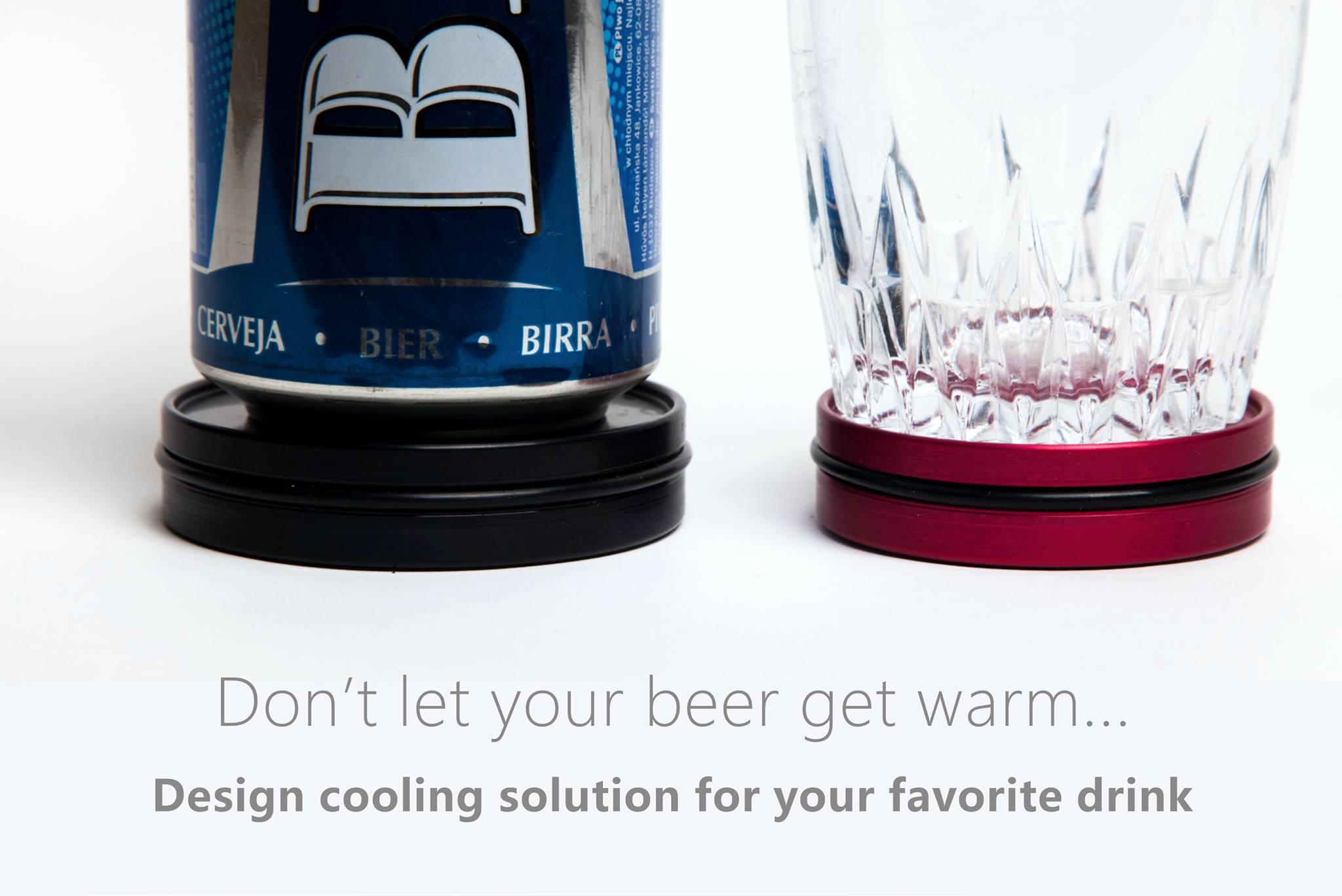 Coaster Cooler Keeps Your Drink Cold